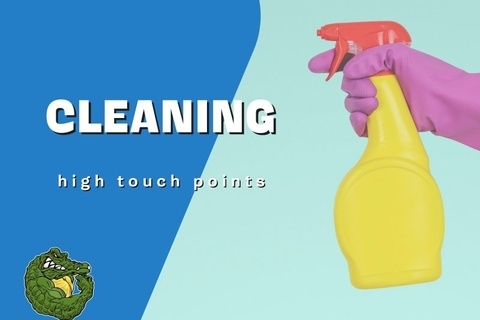 How to properly sanitize high touch points in your home.